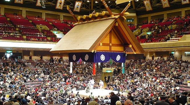 Inside the Kokugikan stadium in Tokyo