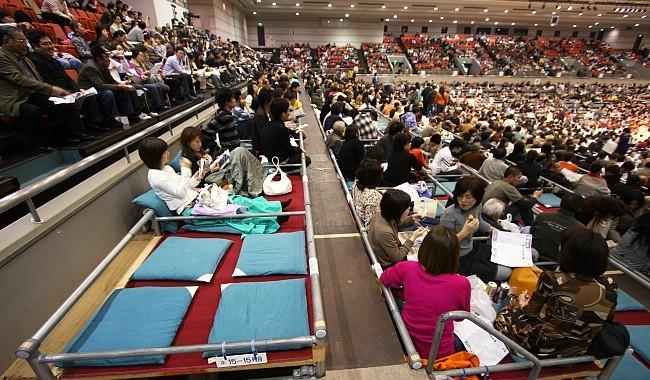 Box seats at the Osaka Prefectural Gymnasium