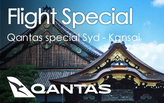 Qantas to Kansai Flight Special